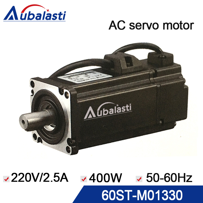 servo motor 400w ac servo motor 60ST-M01330 input voltage 220v current 2.5A use for cnc engraver and cutting machine free shipping 3000rmp cnc servo motor kit 80st m01330 220v ac servo motor 400w 1 27n m three phase motors