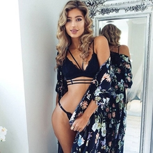 Hot Sexy Black White Lace Bra Tops Women V-neck Women Lace Tee Bra Tank Tops Backless Stretch Straps Elastic Patchwork Camisole