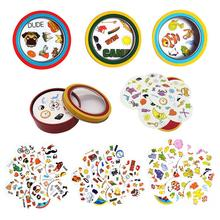 2019 New Spot Board Game Dobble Cards Spot It Game For Children Focus On Training Family Toys Entertainment 55 Cards/set цена