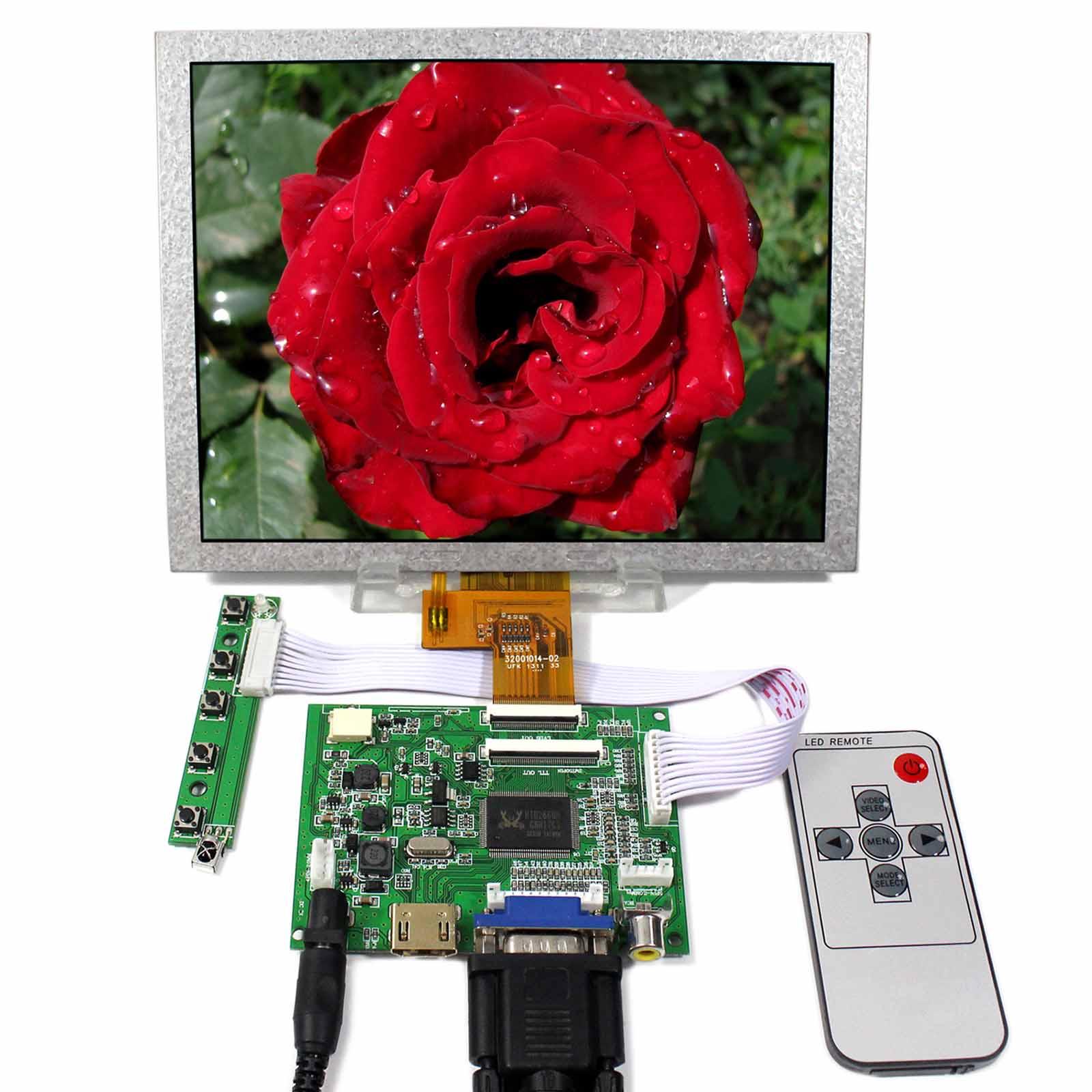 HDMI+VGA+2AV LCD Controller Board VS-TY2662-V5 With 8inch 1024x768 EJ080NA-04C LCD Screen цена и фото