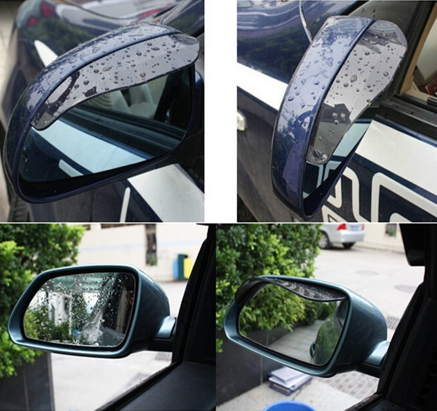 1Pair Car Rear View Mirror Anti Rain Visor Snow Guard Weather Shield Sun Shade Cover Rearview BABY520