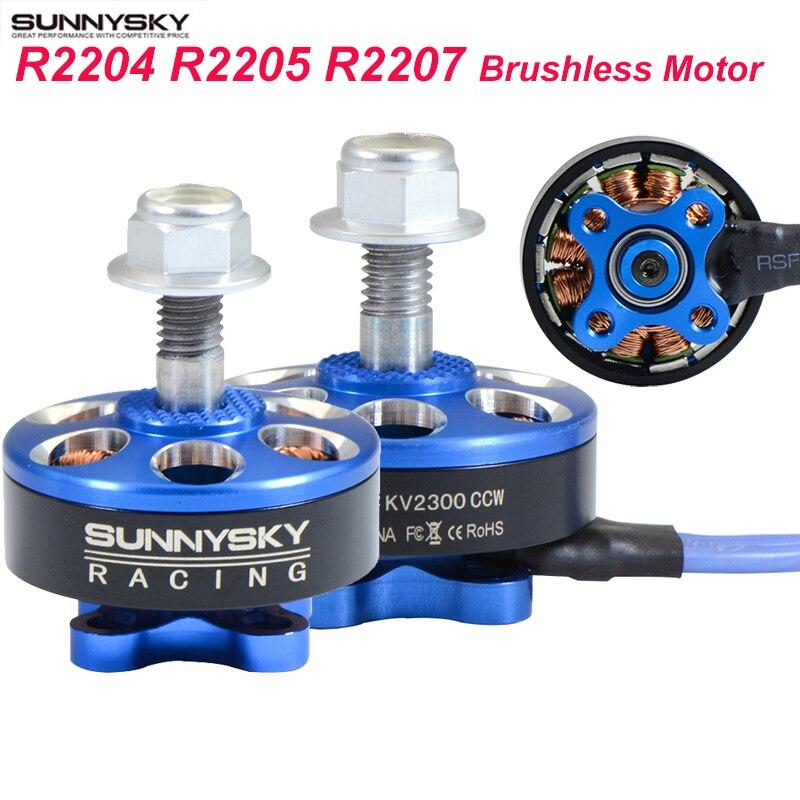 4pcs/lot Sunnysky R2204 R2205 2300KV R2207 2580KV Brushless Motor 2 CW 2 CCW For FPV Racing Quadcopter Drone Multicopter