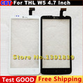 100% QC PASS Display LCD + Digitador Da Tela de Toque Do Painel de Vidro Para THL W5