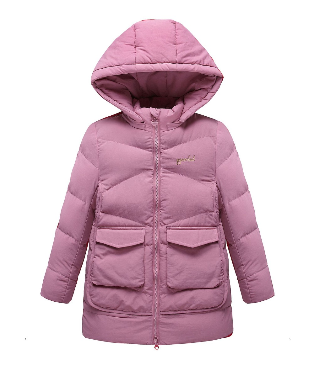 New 2018 Fashion Children Winter Jacket Girl Winter Coat Kids Warm Thick Hooded long down cotton Coats For Teenage 3-14 Yrs old 2017 winter women jacket down new fashion long sleeve hooded thick warm short coat slim big yards female autumn parkas ladies242