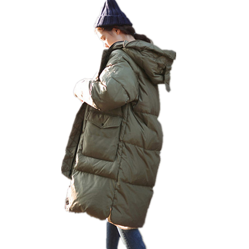 Fashion Girls Thickening Loose Korean Casual Large Size Warm Parka Hooded Cotton Padded Coat Jackets Women Ukraine Parka TT2991 2017 ukraine exclusive custom winter coat magic cloth dolls and original sweet bunny ears hooded casual loose lovely cotton