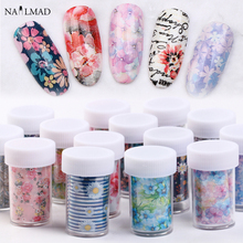 1pc 100*4cm Flower Design Nail Art Foil Transfer Stickers Decals  Holographic Rose Daisy