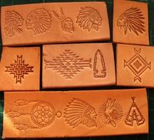 13pcs Indiano culturale elementi del modello A Mano lavoro unico design scultura punzoni craft stamp in pelle con intaglio in pelle