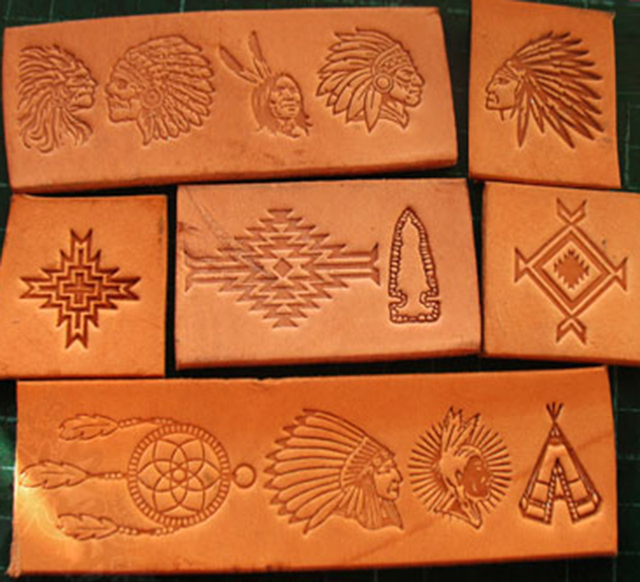 13pcs הודי תרבותית אלמנטים דפוס יד עבודה ייחודי עיצוב גילוף אגרופים חותמת קרפט עור עם עור גילוף כלים