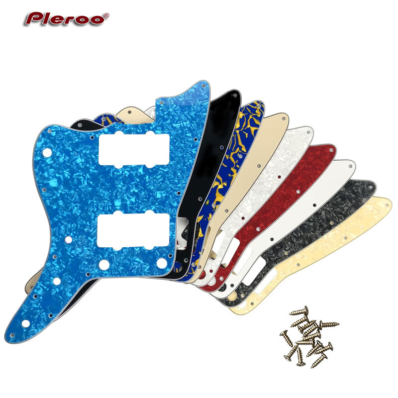 Pleroo Custom Guitar Parts - For Left Handed US No Upper Controls Jazzmaster Style Electric Guitar Pickguard Replacement