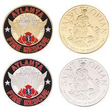 Памятная монета, коллекция пожарных, коллекция сувениров, коллекционные монеты, художественные ремесла, подарки, серебро, золото