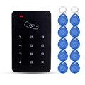 Lector de tarjetas RFID de control de acceso independiente con teclado digital de 10 teclas de TK4100 para casa/apartamento/fábrica segura sistema