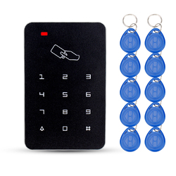 Obo mãos 125khz rfid teclado sistema de controle acesso teclado digital fechadura da porta controlador rfid leitor cartão com 10 pces tk4100 chaves