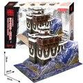 3D головоломки бумаги модель здания DIY игрушки ручной работы подарок дикий Китай тибетский каменные палаты Тибетский дом мире архитектура
