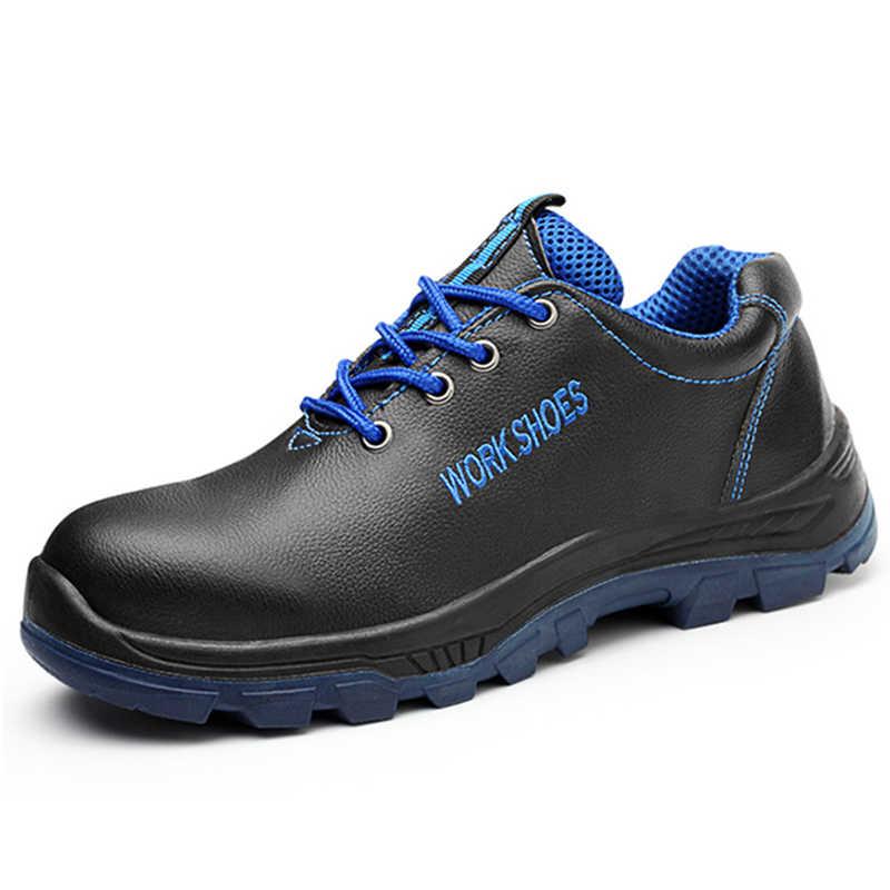 Nieuwe Mannen Werken Schoenen Stalen Neus Werk Veiligheid Laarzen Mannelijke Schoenen Anti-smashing Punctie Proof Man Veiligheid Schoenen outdoor Sneakers