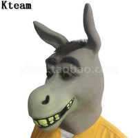 Funny Party Cosplay Donkey Head Mask Animal Masks Masquerade Adult Ghost Mask Halloween Props Costumes Fancy Dress Party Mask