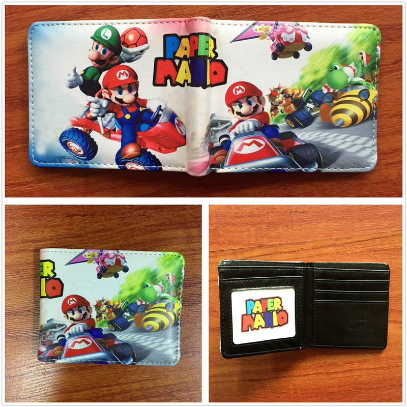 New Cartoon Super Mario Wallet Women Men Casual Short Wallet slim purse Card Holder Teenagers Money Cash Bag W611