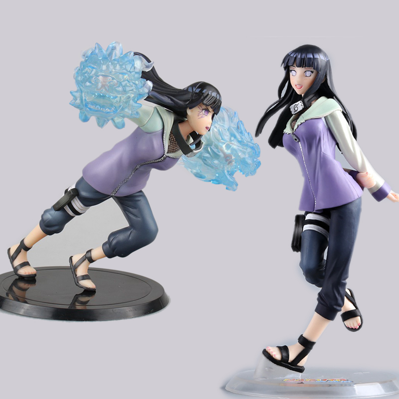 2 Types Anime Naruto Figure Hyuuga Hinata Gently Step Twin Lions Fist Ver PVC Action Figures Collectible Model Toys Doll naruto figure ninja hyuuga hinata hyuga figure uzumaki naruto gem pvc action figure toy collection model gift