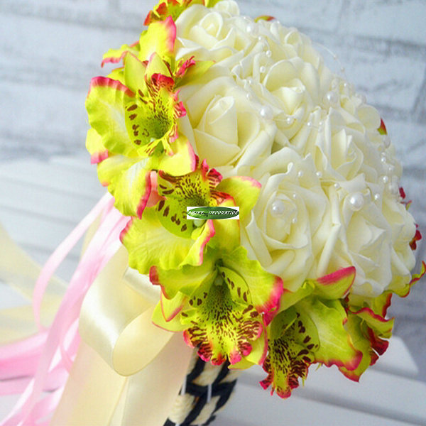 Wedding decoration church yellow New flower decoration
