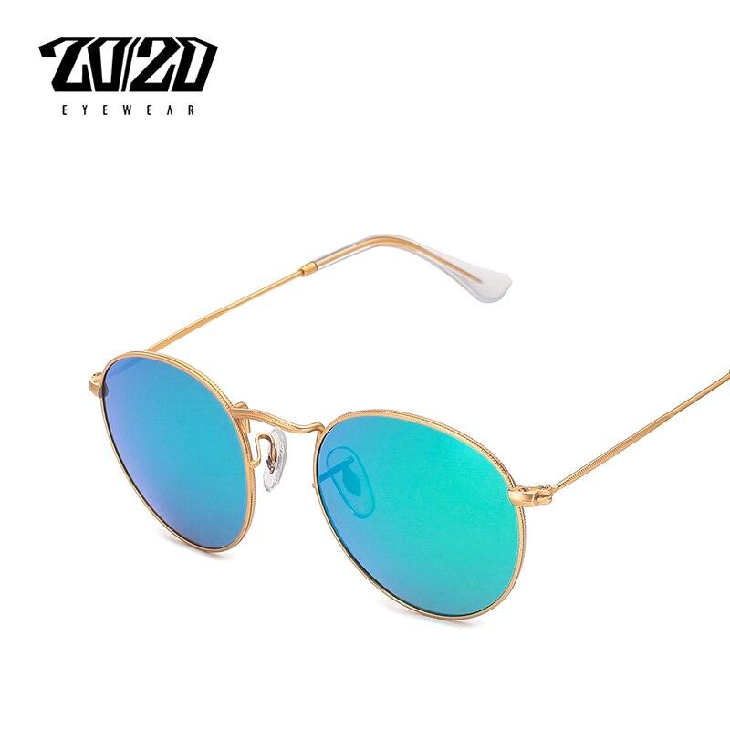 20/20 Marke Designer Vintage Frauen Runde Sonnenbrille Männer Mode Polarisierte Metall Sonnenbrille Schatten Gafas Oculos Brillen GroßE Vielfalt