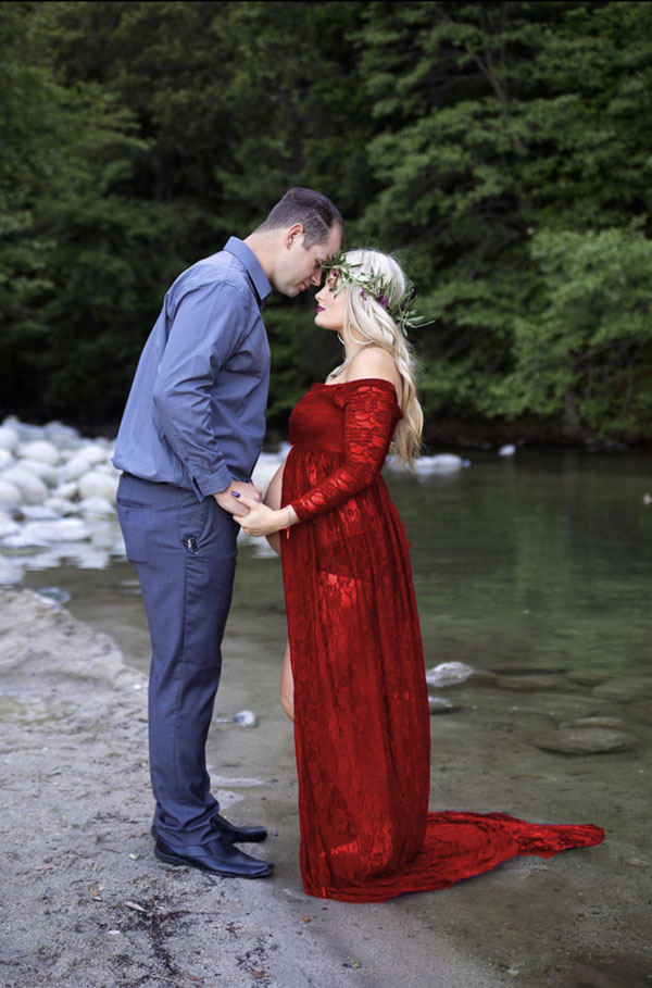 maternity photo shoot dress photography pregnancy red lace clothes evening dress for photo shoots props gown elegant clothes недорого