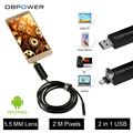 DBPOWER 2-In-1 USB Mini Endoscope Micro USB for Android 2M/5M/10M 5.5MM Lens Video Snake Camera 6 LED Inspection Tube Borescope