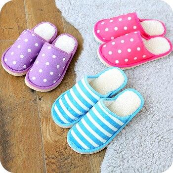 XA милые Для женщин/мужчин пары домашние тапочки для домашняя Спальня Туфли без каблуков удобные теплые зимние ботинки