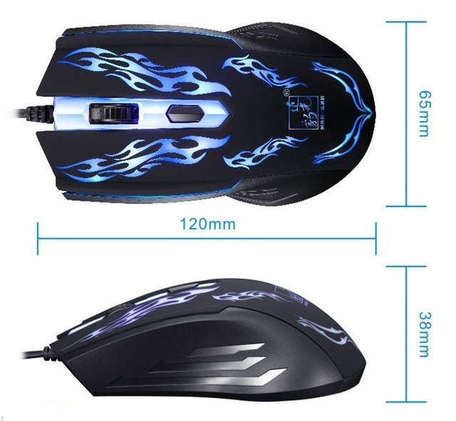 Promotion 1500DPI LED Optical USB cable Wired Gaming Game Mouse Pro Gamer Computer Mice For Computer PC Laptop Desktop Suppion