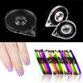 New Simple Useful Nail Art Striping Tape Line Case Box Holder Tool Plastic New Quality