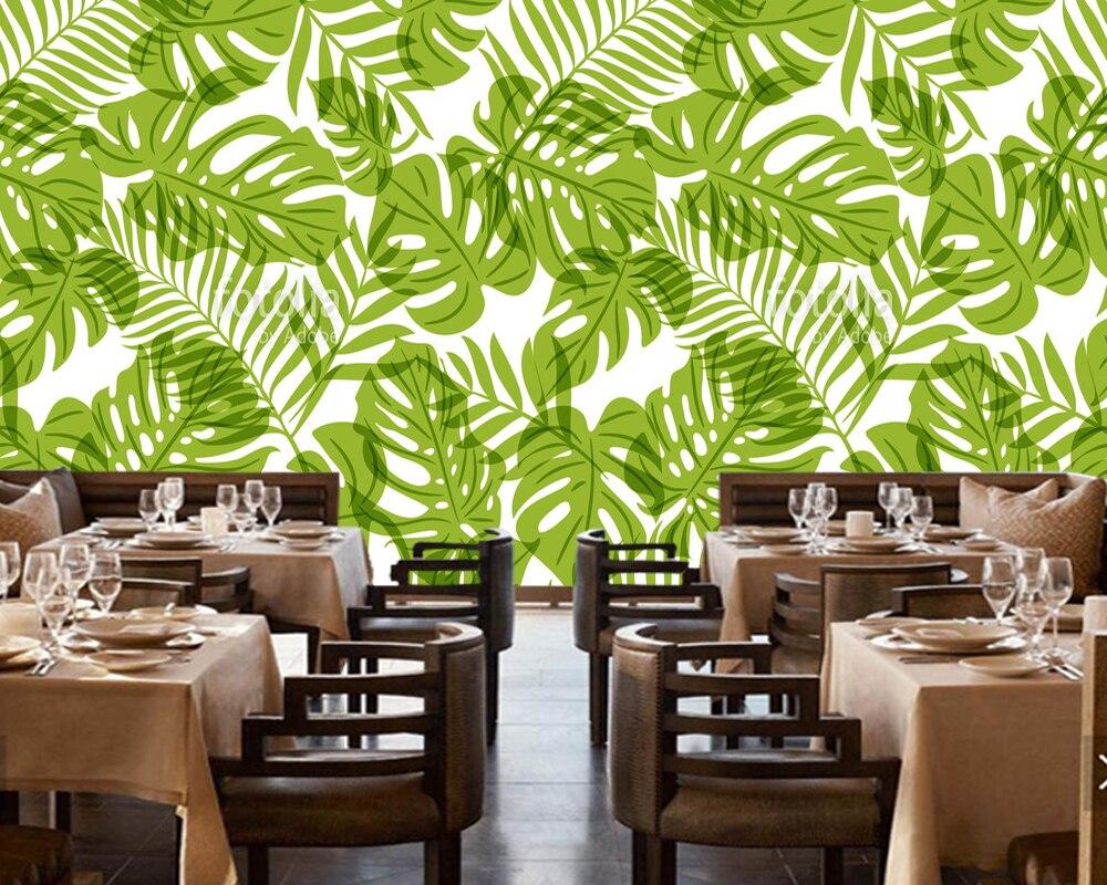 Muster Tapete Palmen   Us 15 3 49 Off Custom Home Dekoration Tapete ...