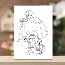Mushroom House Frame Stamp Dies Clear Rubber Stamp Craft Stamp for Scrapbook Card Making Decorative Photo Album(China)