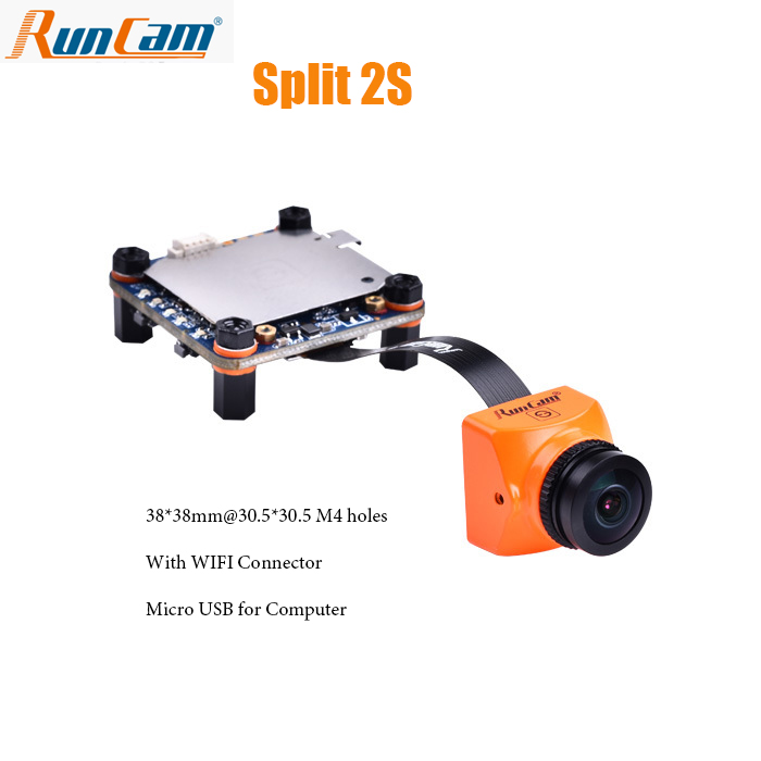 RunCam Split 2S FPV Wifi Camera 1080P/60fps HD Recording plus WDR NTSC/PAL Switchable for FPV Racing Drone Quadcopter runcam 2 hd 1080p 120 degree wide angle wifi fpv camera ir blocked ntsc pal switchable for fpv racing drone