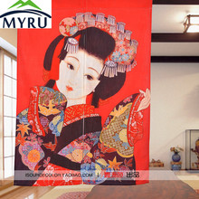 MYRU Ukiyo-e Japanese ladies door curtain decoration curtain for bedroom living room kitchen room door curtain