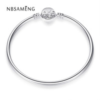 2018 New Authentic 100 925 Sterling Silver Original Bowknot Moments Silver Bangle Fit Pan Women Basic