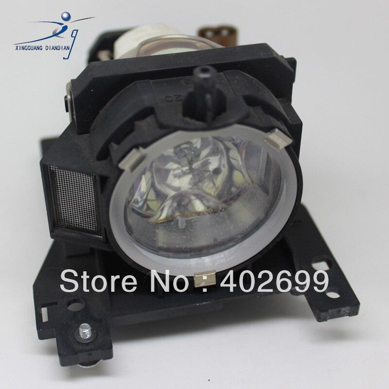 61234d418d DT00841 lampu Proyektor dengan perumahan untuk HITACHI HCP-80X HCP-800X  HCP-880X ED-X32 ED-X30 baru asli