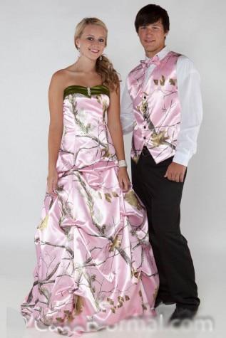 Free Shipping Realtree Pink Camo Prom Dress 2017 New Vestido De Festa Longo Camouflage Party Dresses Fine Workmanship