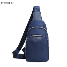 PETERBOLO New Men Chest Bags Waterproof Nylon Crossbody Casual Man Handbags