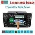 Бесплатная Доставка ГОРЯЧЕЙ сель Dvd-плеер Автомобиля Для Skoda Octavia Встроенный Gps-радио Bluetooth Ipod Аудио 7 inch Емкостный экран