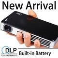 Завод питания оптовая продажа 2D в 3D проектор DLP портативный Proyector 1280 x 800 родной видео Projecteur встроенный аккумулятор лучемет