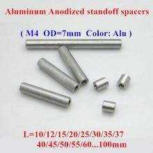 10pcs M4 aluminum rods M4*10/12/15/20/25/30/35..50mm Aluminum Alloy round standoff spacer Spacing screws for RC Parts D=7mm 10pcs m3 5 6 8 10 12 15 20 25 30 35 40 45 50 m3 thread black aluminum round standoff spacer for rc parts