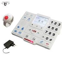 Mayor Alarma Inalámbrica GSM SMS Sistema de Alarma de la Seguridad Casera Con Botón SOS GPRS Para El Cuidado de Ancianos Monitor de Sistema de Llamada De Emergencia T2A