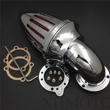 Aftermarket free shipping motor parts Air Cleaner intake filter kits for Harley Davidson  S&S custom CV EVO XL Sportster CHROME