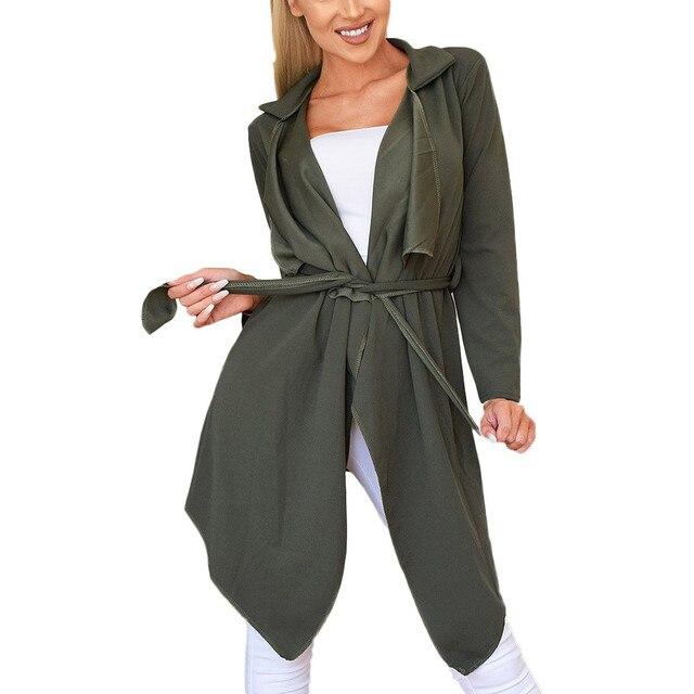 Mùa đông nữ áo khoác Áo Khoác Form Rộng Cardigan Áo Chắc Chắn Không Đều HEM Với Vạt Áo Phối Áo Khoác dài Cardigan Cao Cấp #506
