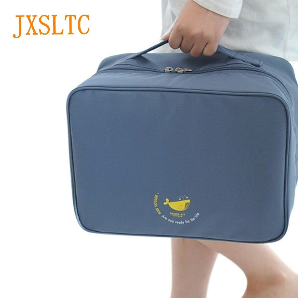 JXSLTC Men Folding Travel Bag Unisex Traveling Bag Waterproof Travel Bag High-Capacity Clothing Organizer 2018 Women Nylon Bag