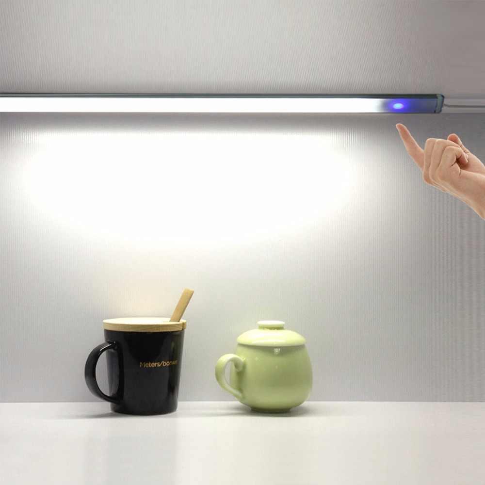 30 см USB шкаф свет бесступенчатая диммер сенсорный контроль светодиодный свет неограниченный затемнения лампа холодный белый для шкафа, гардероба, стола