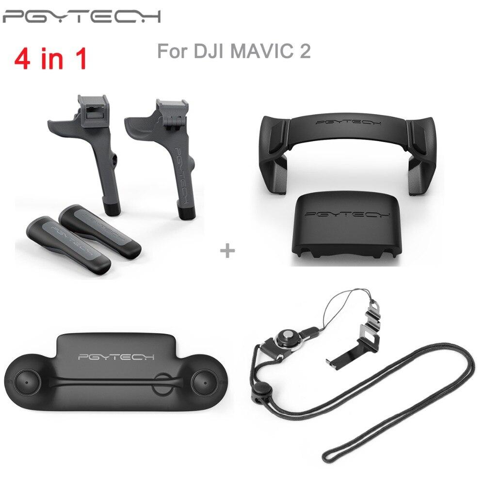 PGYTECH para DJI Mavic 2 Pro hélices soporte del Motor protección fija Protector fijador/control remoto Rocker Protector de Palo