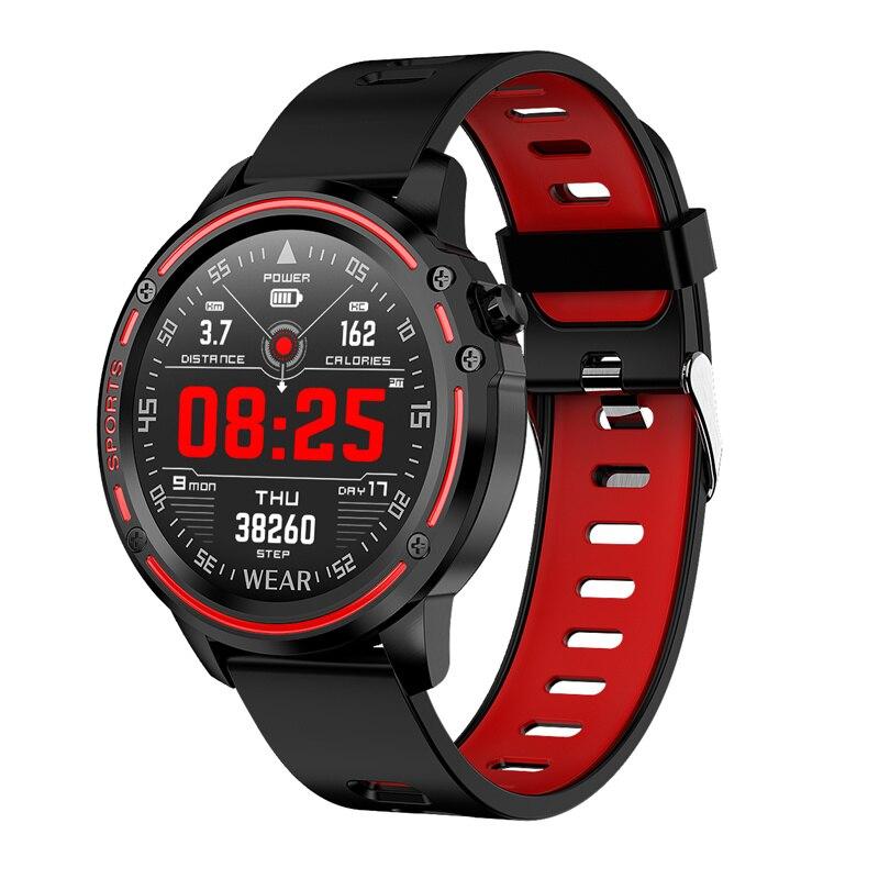 L8 relógio inteligente homem ip68 à prova dip68 água reloj hombre modo smartwatch com ecg ppg pressão arterial freqüência cardíaca esportes relógios de fitness