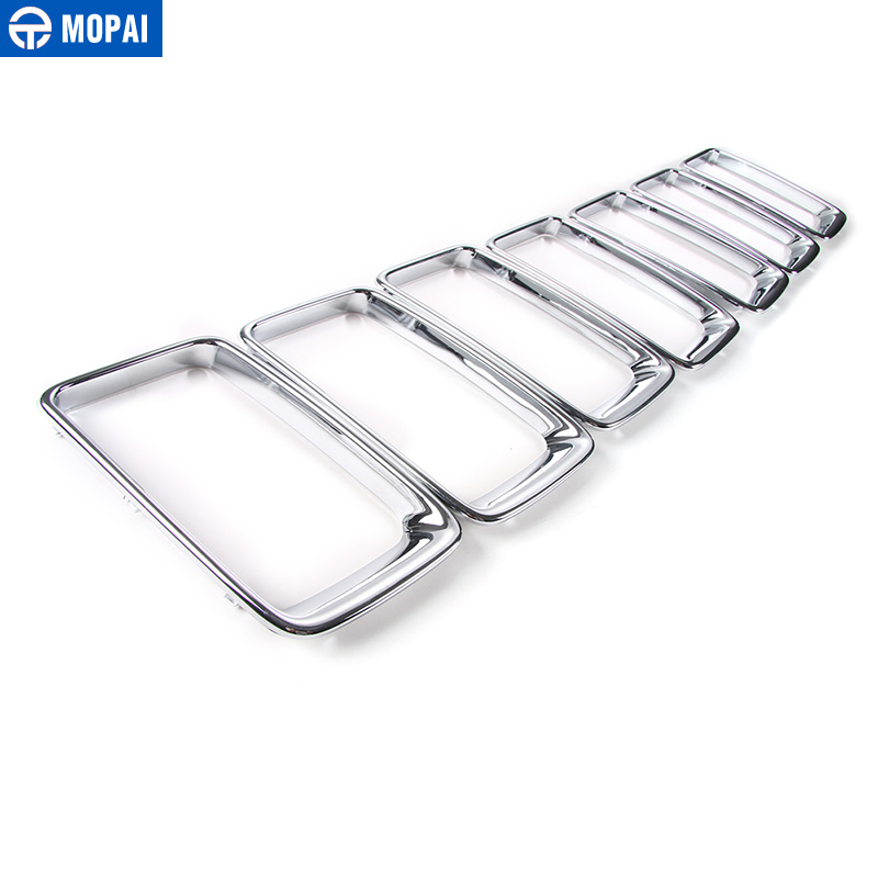 MOPAI ABS Car Interior Front Insert Racing Grilles Decoration Ring Cover Sticker for Jeep Grand Cherokee 2014 Up Car Styling in Racing Grills from Automobiles Motorcycles