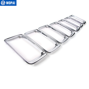 Image 2 - MOPAI ABS Car Interior Front Insert Racing Grilles Decoration Ring Cover Sticker for Jeep Grand Cherokee 2014 Up Car Styling