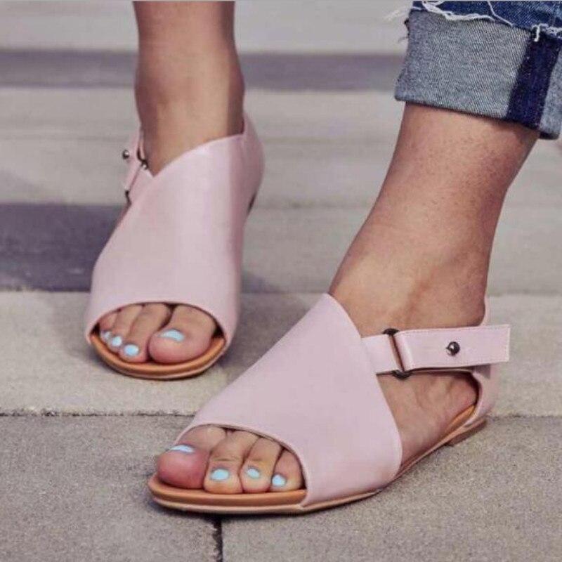 Womens High Heels Roma Gladiator Sandals Peep Toe Casual Buckle Fashion Shoes Sz