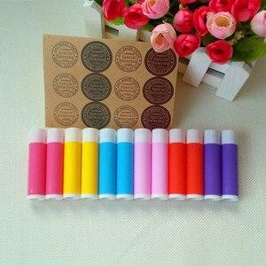 Image 5 - O Envio gratuito de 100 pçs/lote 5g Vazio Doce Cor Tubos LIP BALM Recipiente do Batom Garrafa Para DIY Lábio de Plástico de Embalagens de Cosméticos